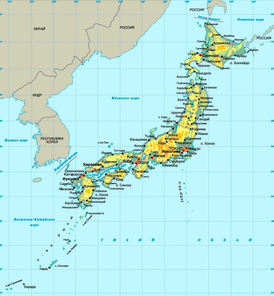 Страны, с которыми граничит Япония
