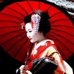 японка в традиционной одежде