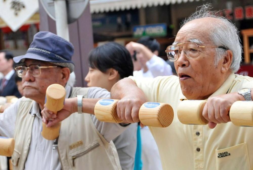 пожилые Японии