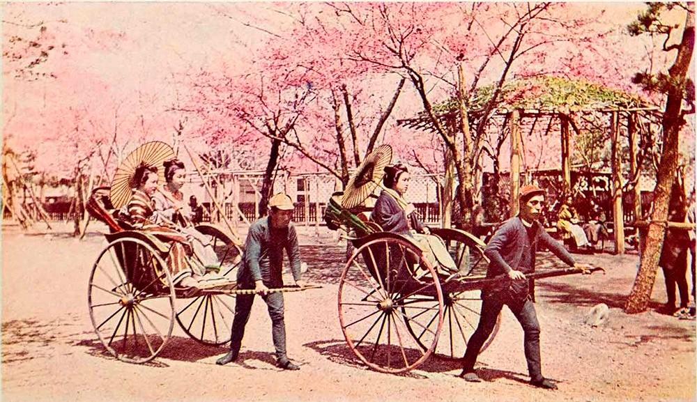 Японские рикши - необычайная профессия в странном слове