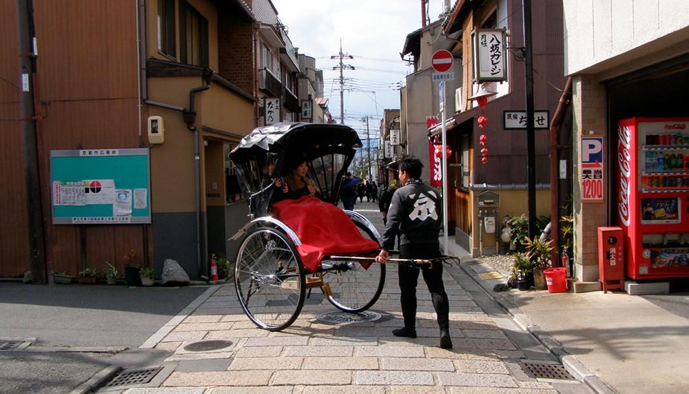 Рикша в Японии